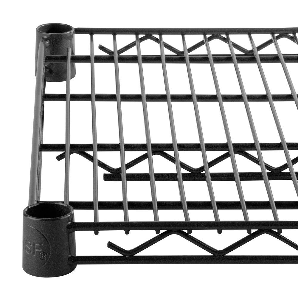 Regency 14 inch x 48 inch NSF Black Epoxy Wire Shelf