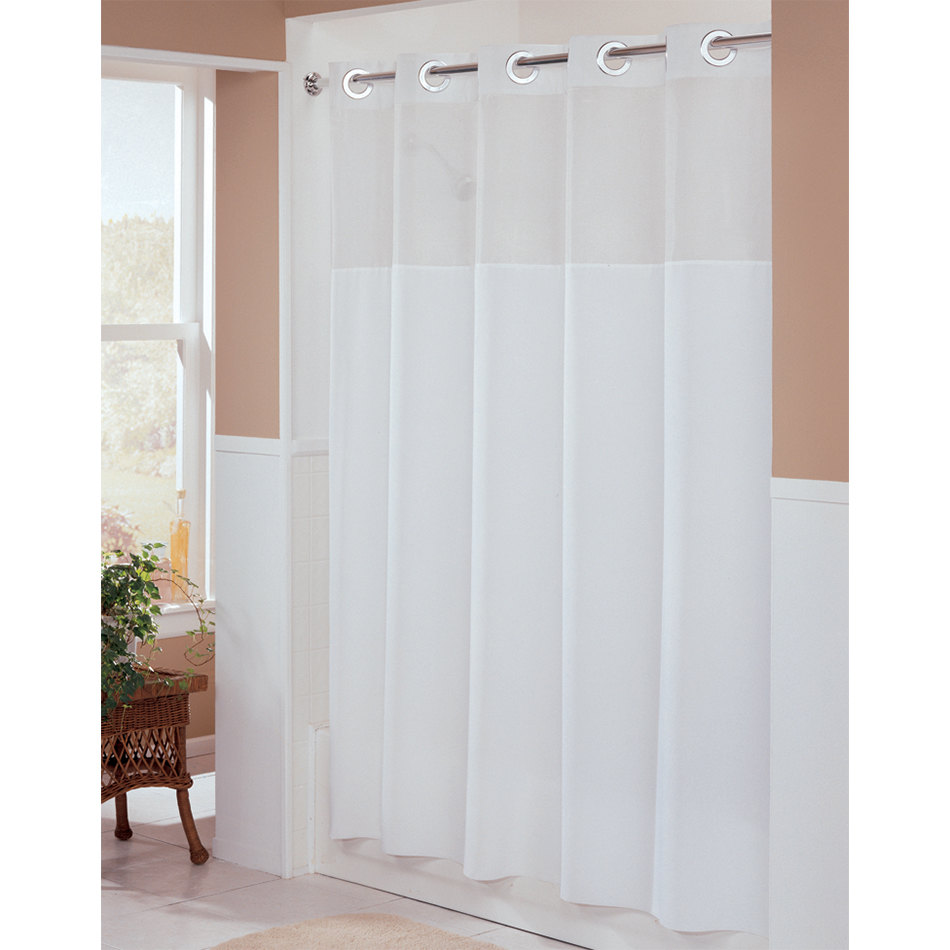 Hookless shower curtain with snap liner - Main Picture
