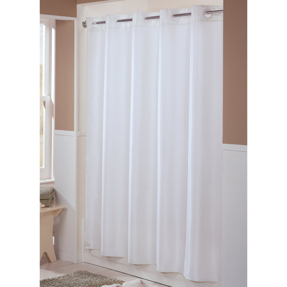 hookless hbh44eng01 white englewood shower curtain with. Black Bedroom Furniture Sets. Home Design Ideas
