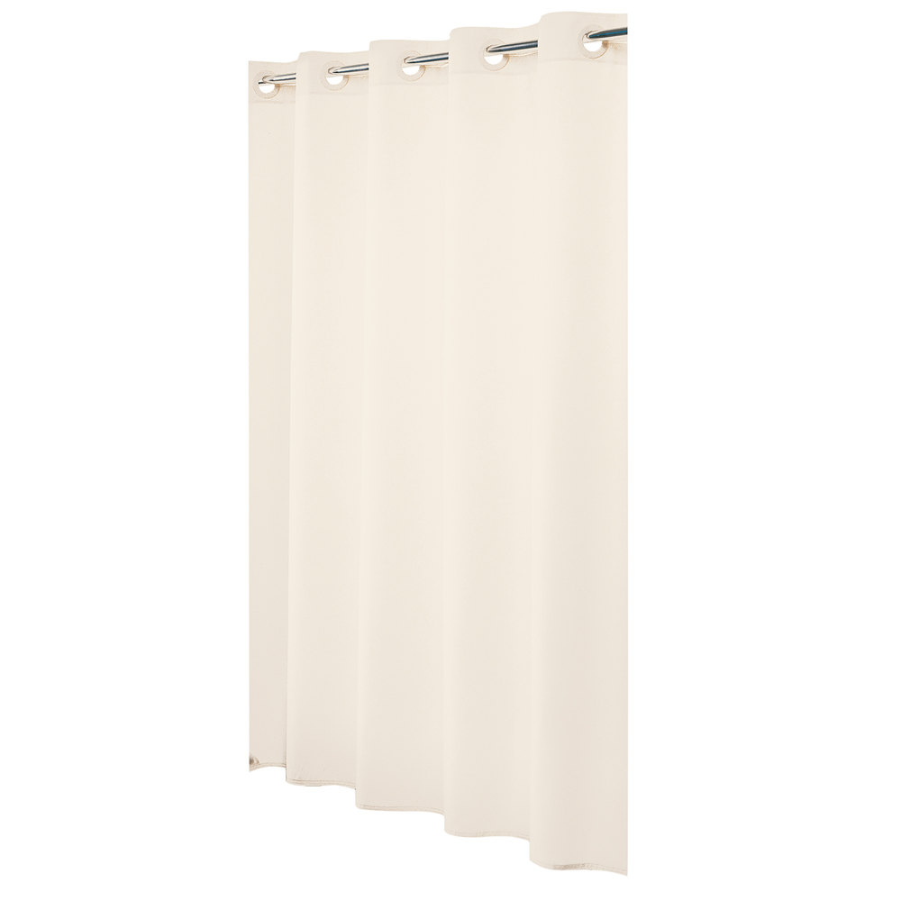 Hookless Hbh31lin05 Beige Nylon Shower Curtain With