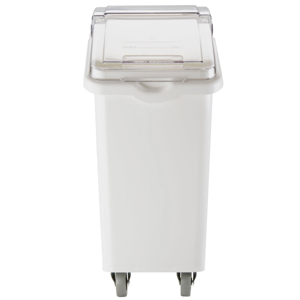 Continental 9326 26 Gallon White Mobile Ingredient Storage Bin with Lid