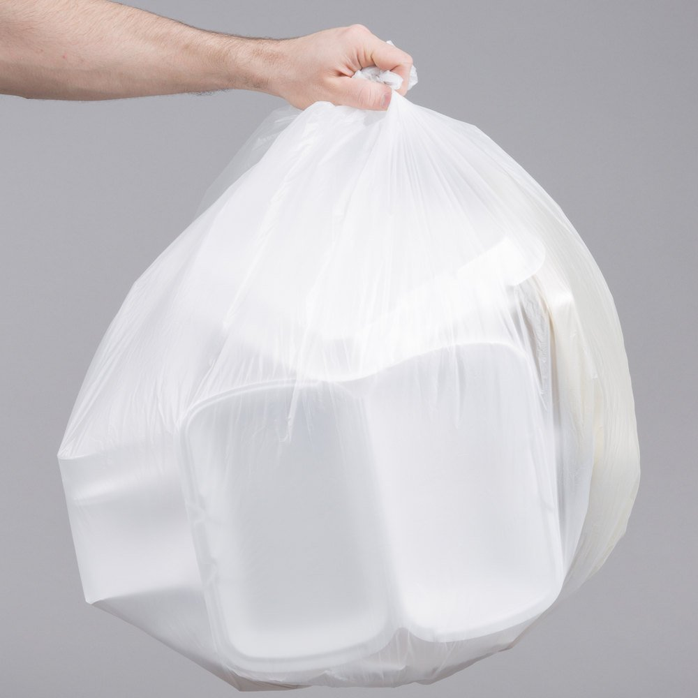 "20-30 Gallon 16 Micron 30"" x 37"" Olympian High Density Can Liner / Trash Bag - 500/Case"