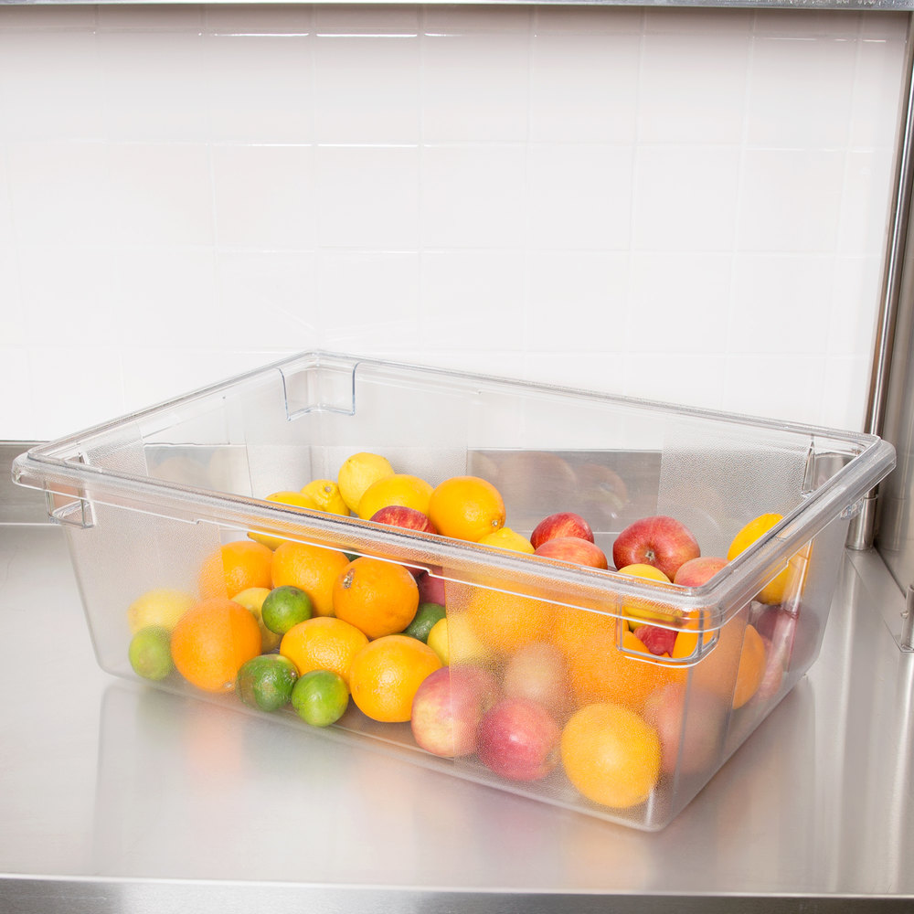 "Rubbermaid FG330000CLR Clear Polycarbonate Food Storage Box - 26"" x 18"" x 9"""