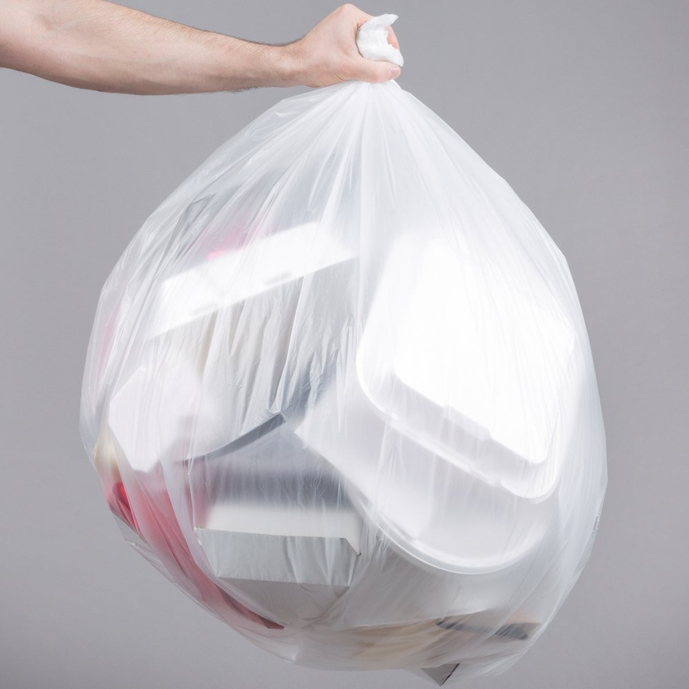 "56 Gallon 22 Micron 43"" x 48"" Olympian High Density Can Liner / Trash Bag - 150/Case"