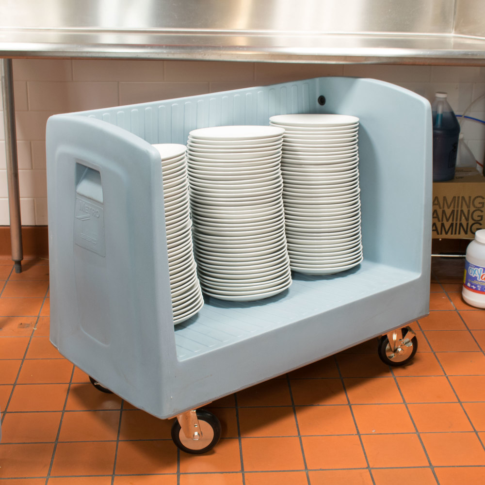 Metro SSD16 Single Side Load Polymer Dish and Tray Cart - 60 Dishes or 80 Trays