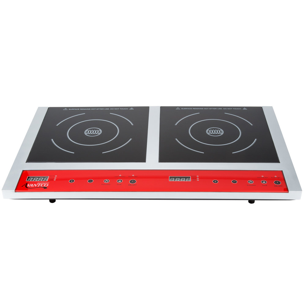 Avantco IC18DB Double Countertop Induction Range / Cooker - 120V ...