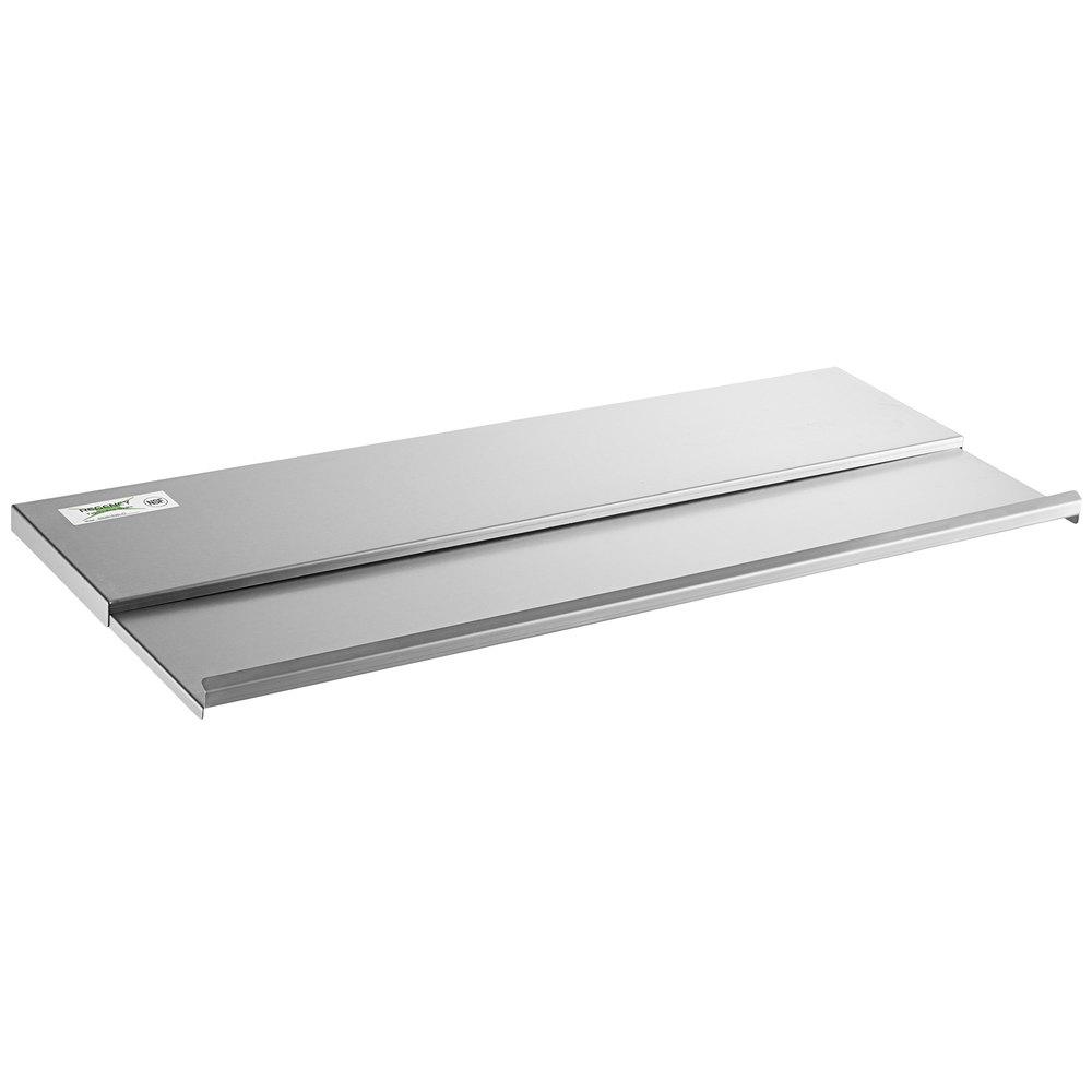 Regency 18 inch x 36 inch Stainless Steel Underbar Ice Bin Sliding Lid
