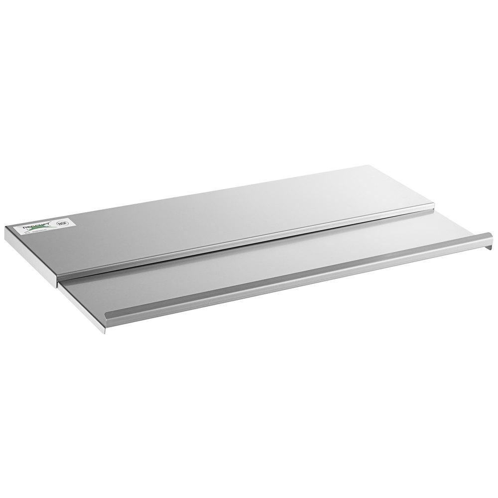Regency Stainless Steel Sliding Lid for 18 inch x 30 inch Underbar Ice Bin