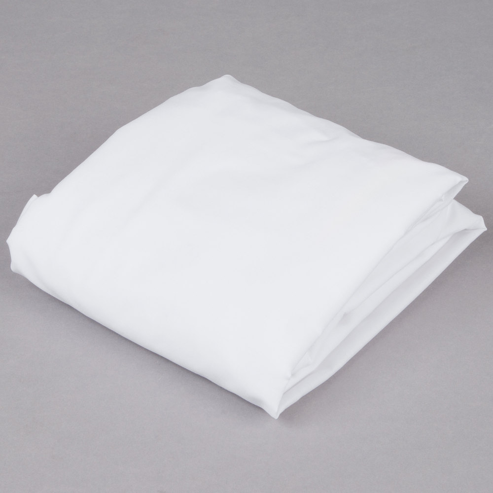 "L.A.Baby 100% White Cotton 27"" x 52"" Fitted Crib Sheet"