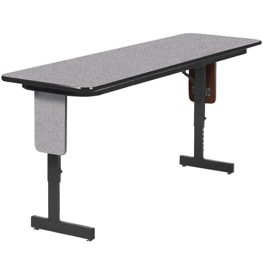 Correll SPA1896PX15 18 Inch X 96 Inch Gray Granite Adjustable Height Panel  Leg Folding Seminar Table