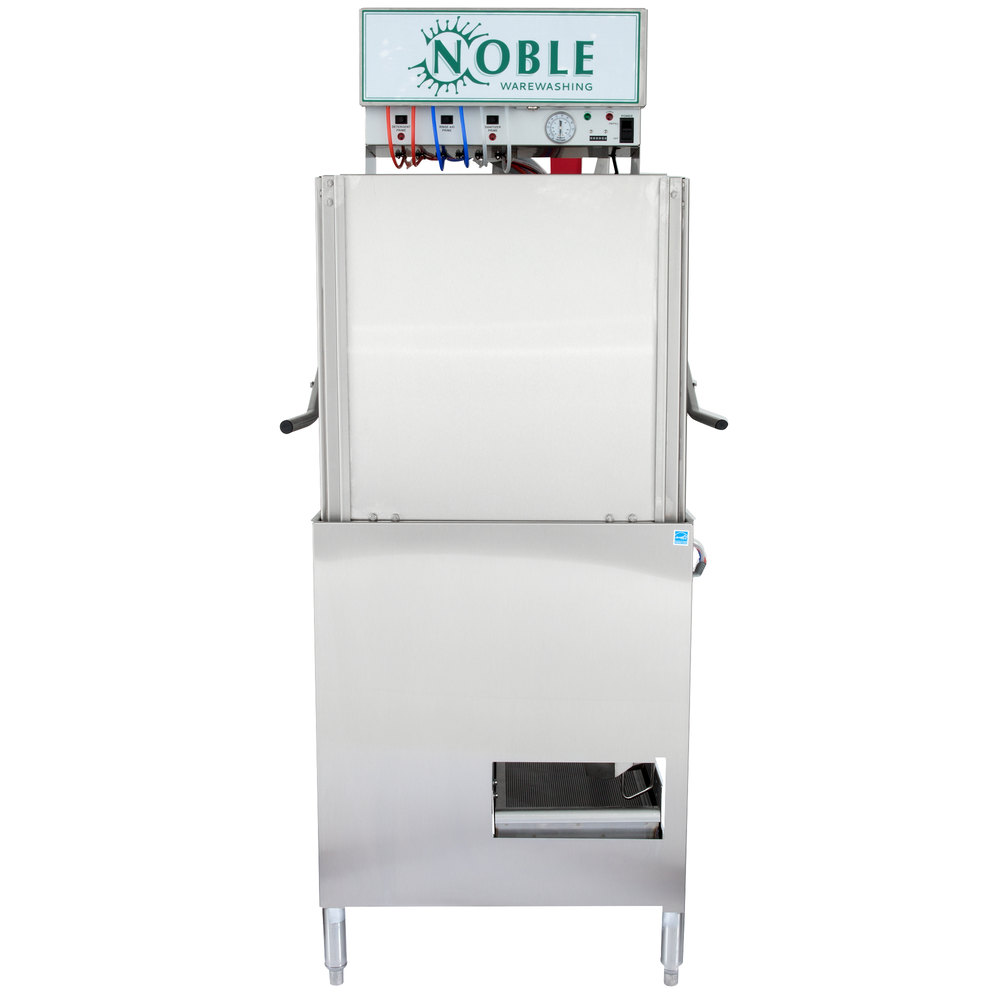 Noble Warewashing I-E Single Rack Low Temperature Door-Type Dish Machine - 115V