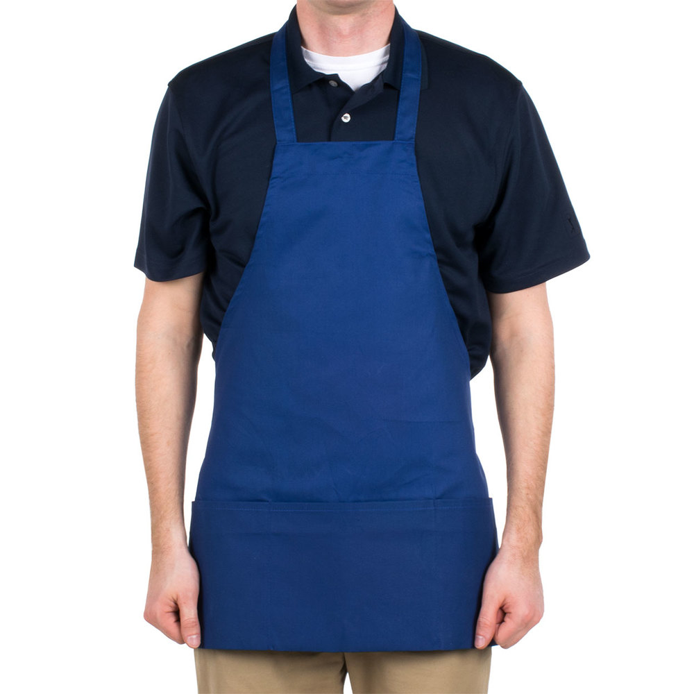 Royal Blue Full Bedroom: Royal Blue Full Length Front Of House Bib Apron With 3