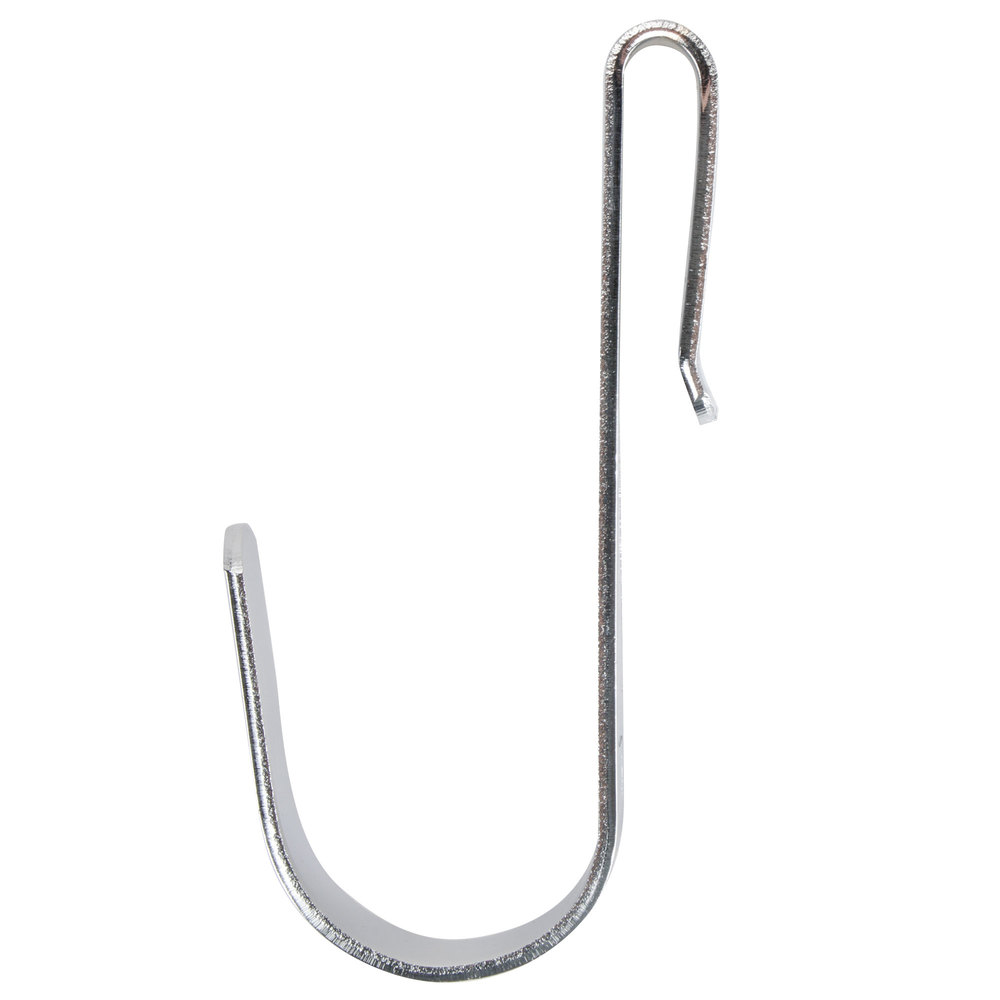 Regency 1 1/4 inch x 3 3/8 inch Small Chrome Snap-On J-Hook for Wire Shelving