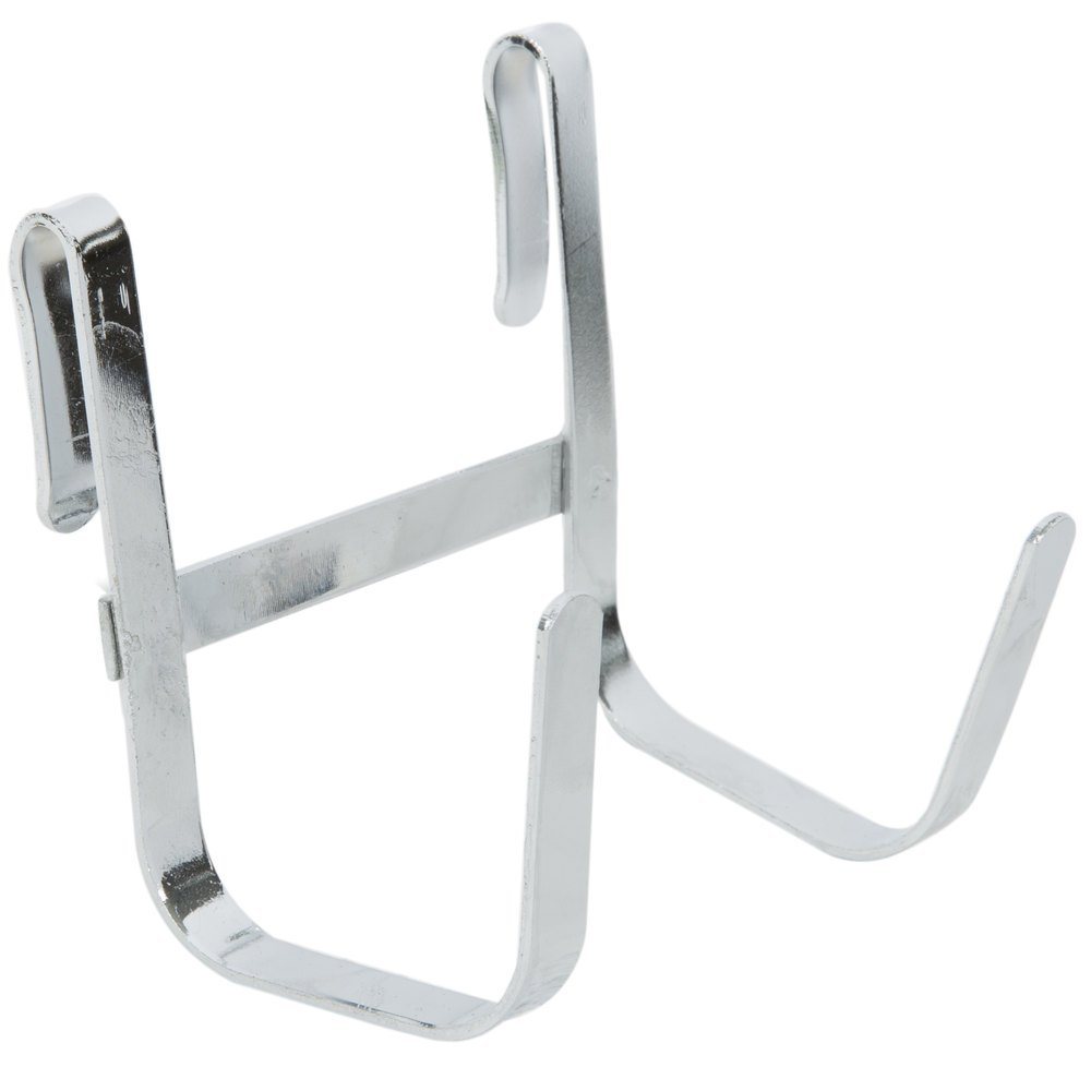 Regency 3 3/8 inch x 3 1/2 inch Large Chrome Double Snap-On J-Hook for Wire Shelving