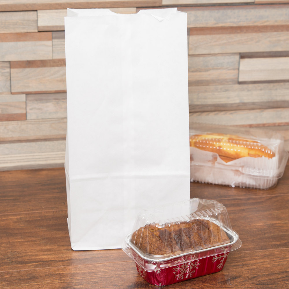 Duro 12 lb. White Paper Bag - 500/Bundle