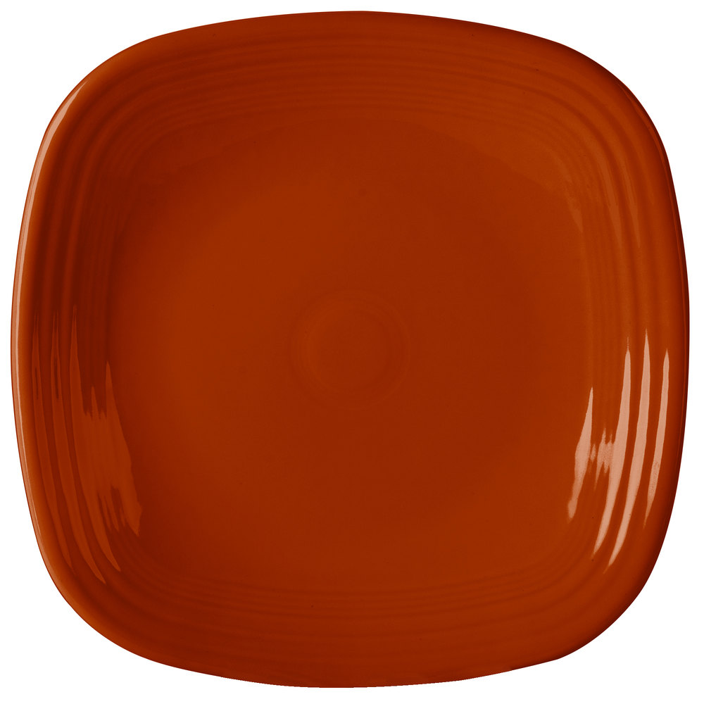 "Homer Laughlin 919334 Fiesta Paprika 10 3/4"" Square Dinner Plate - 12 / Case"