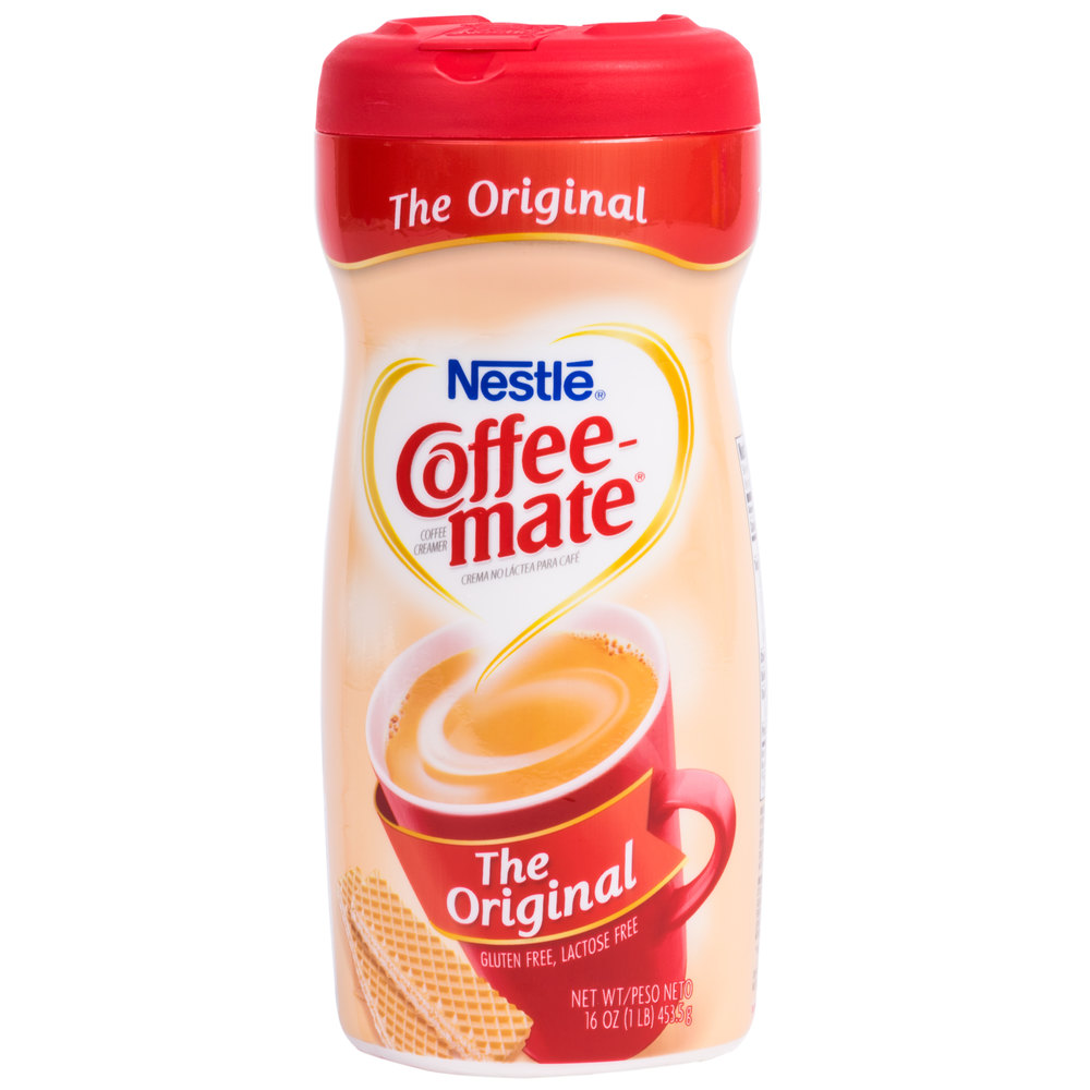 Coffee-mate give another reason to enjoy your favourite coffee with this tasty non-dairy coffee creamer available in original, light, and fat free variants.