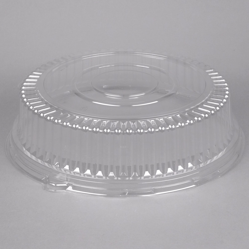 Visions 16 Quot Clear Pet Plastic Round Catering Tray High
