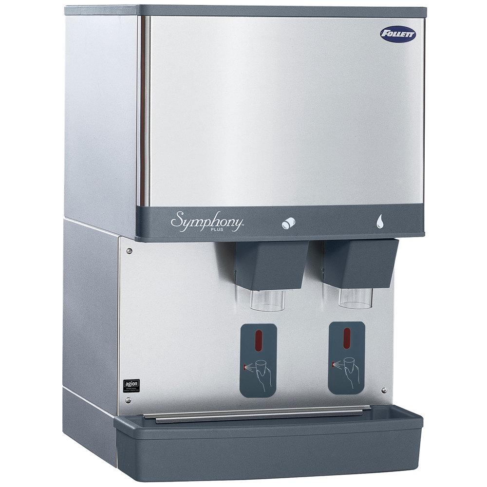 Commercial Countertop Ice Maker Dispenser : ... Countertop Water Cooled Ice Maker and Water Dispenser - 25 lb