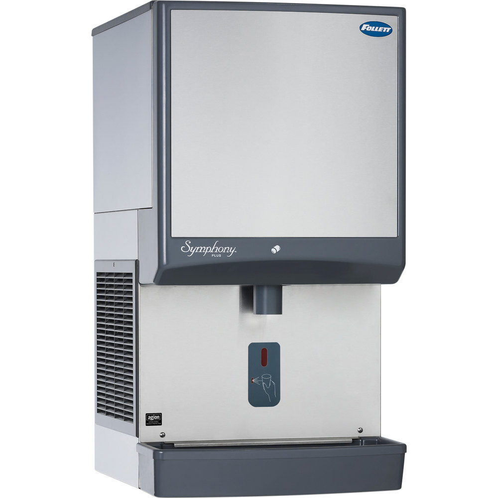 ... -SI Symphony Countertop Air Cooled Ice Maker / Dispenser - 50 lb