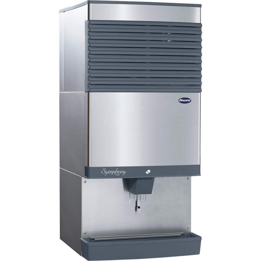 Countertop Ice Maker Crushed : ... SI Symphony Plus Countertop Air Cooled Ice Maker / Dispenser - 90 lb