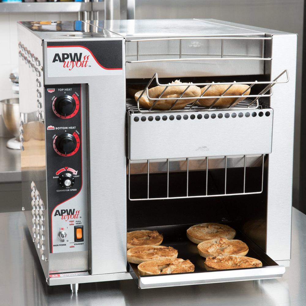 208v Apw Wyott Bt 15 2 Bagelmaster Conveyor Toaster With 2