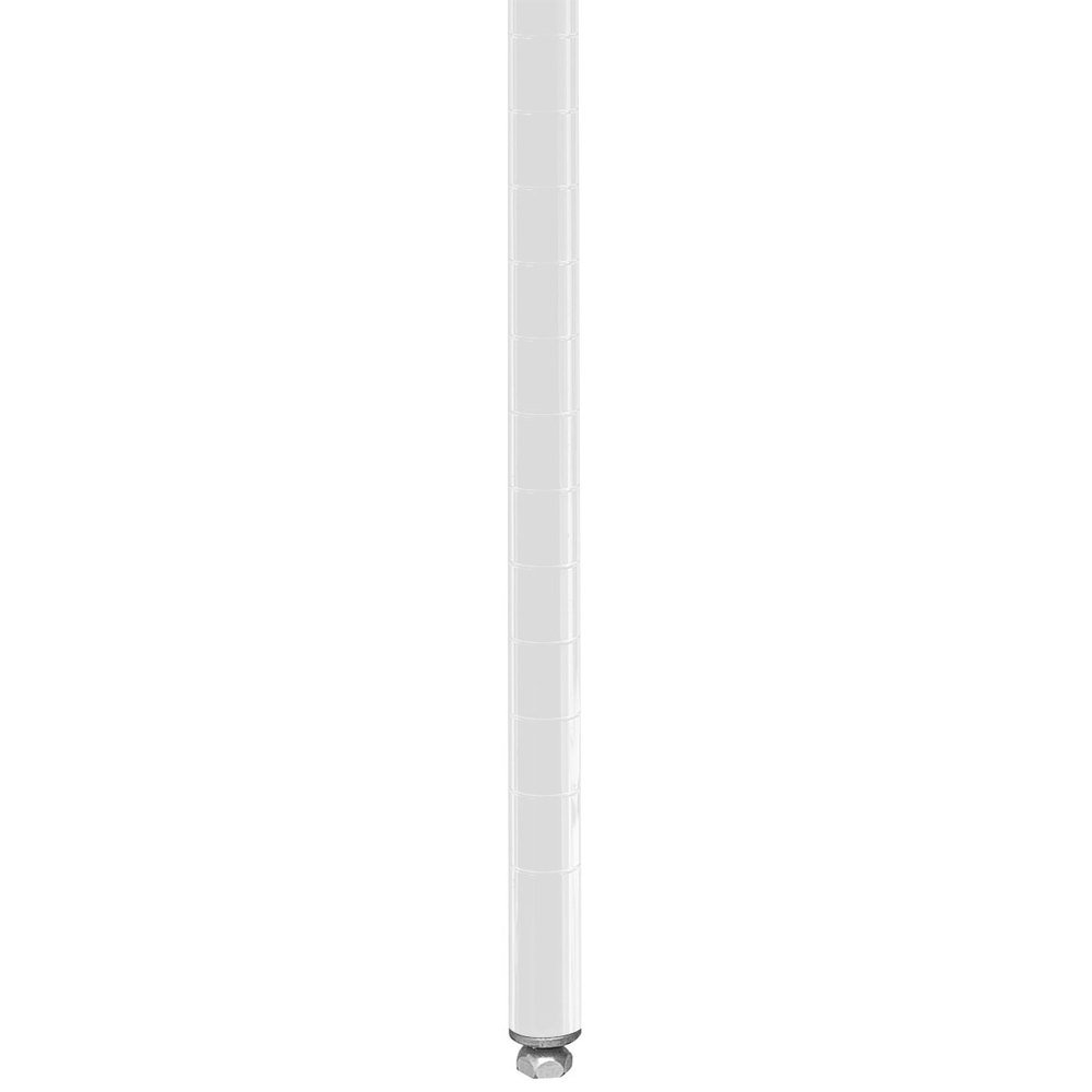 "Metro 7PW Stationary Super Erecta 7"" Post - White Finish"