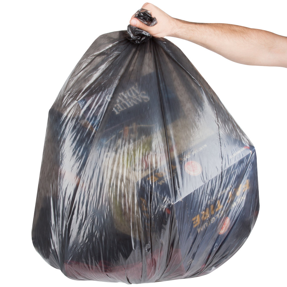 "AEP 333918B 33 Gallon .71 Mil 33"" x 39"" Low Density Can Liner / Trash Bag - 200 / Case"