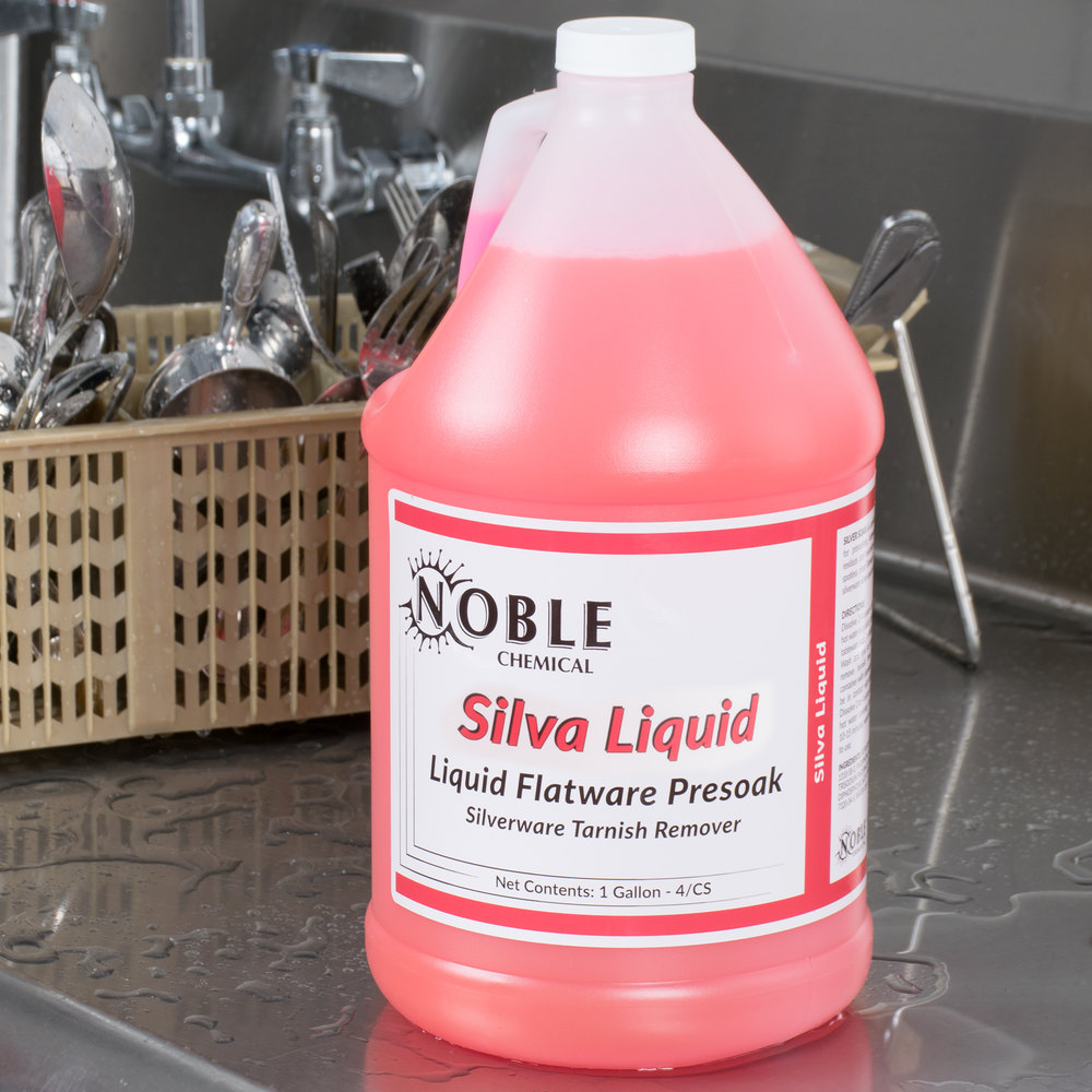 1 Gallon Noble Chemical Silva-Liquid Tableware Presoak - Ecolab® 11486 Alternative - 4/Case