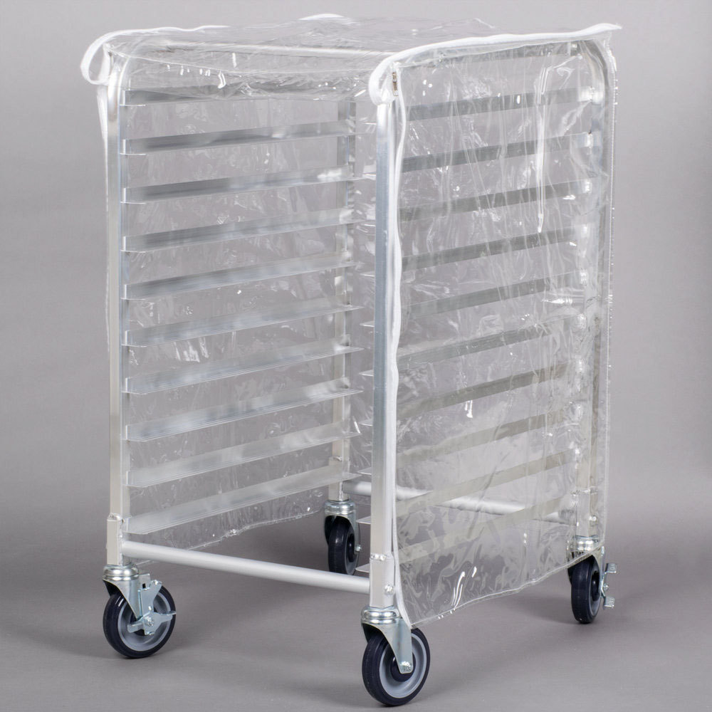 Clear Vinyl Half Size Bun Pan Rack Cover