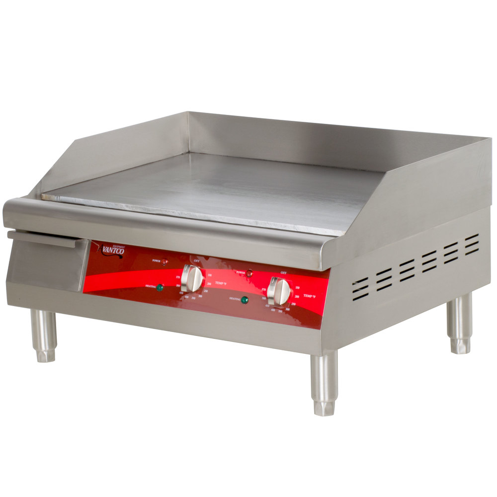 Countertop Griddle : The Avantco EG24N electric countertop griddle allows operators to ...