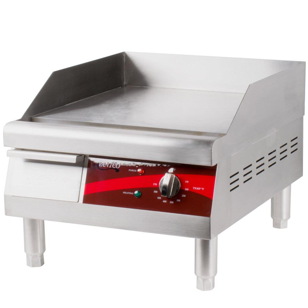 Avantco Eg16n 16 Quot Electric Countertop Griddle 120v 17 5 Kw
