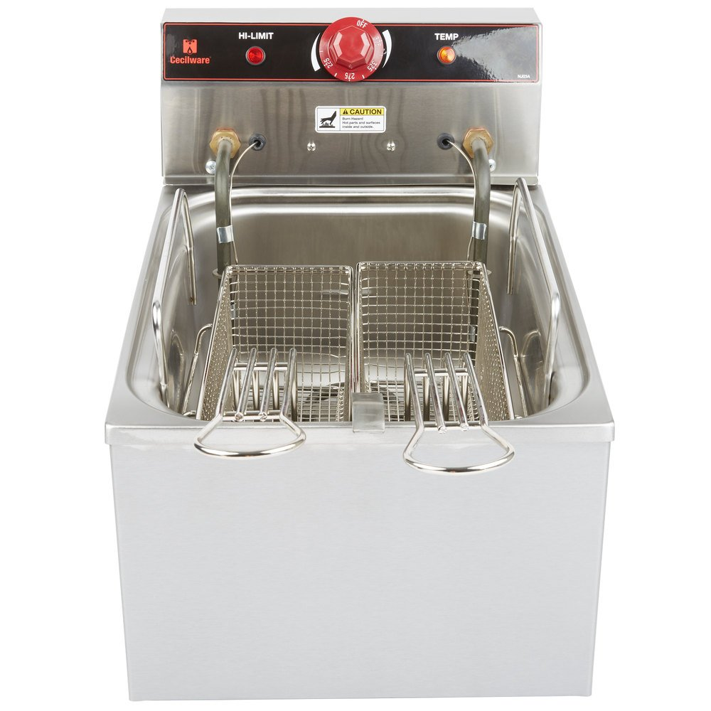 Electric Deep Fryer ~ Cecilware el stainless steel commercial countertop