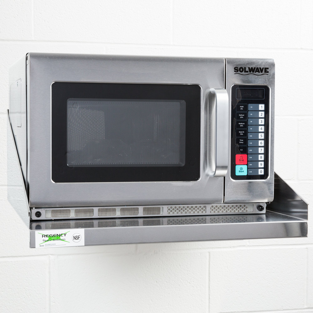 Solwave 1200w Stackable Commercial Microwave With Large 1 2 Cu Ft Interior And Push On Controls 120v