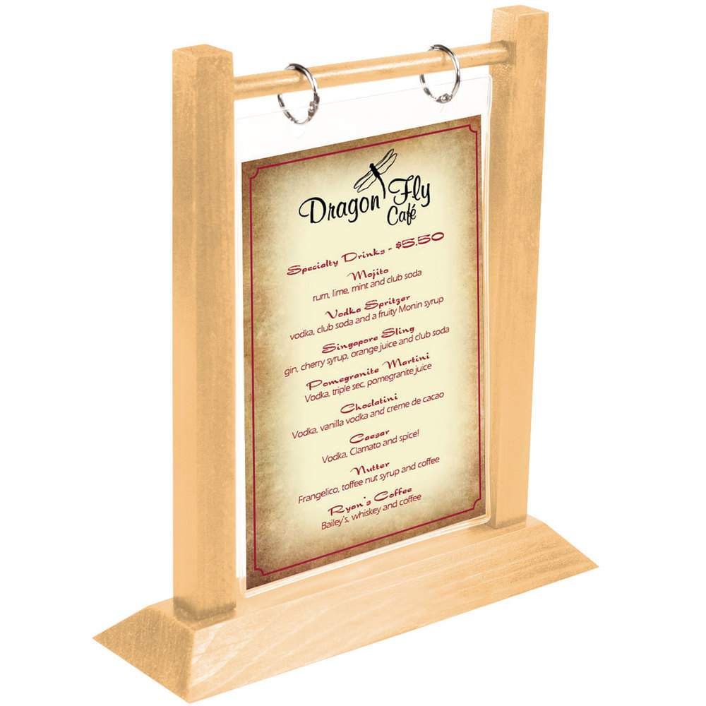 Menu solutions wft4s a 4 x 6 natural wood flip top table for Wood tents