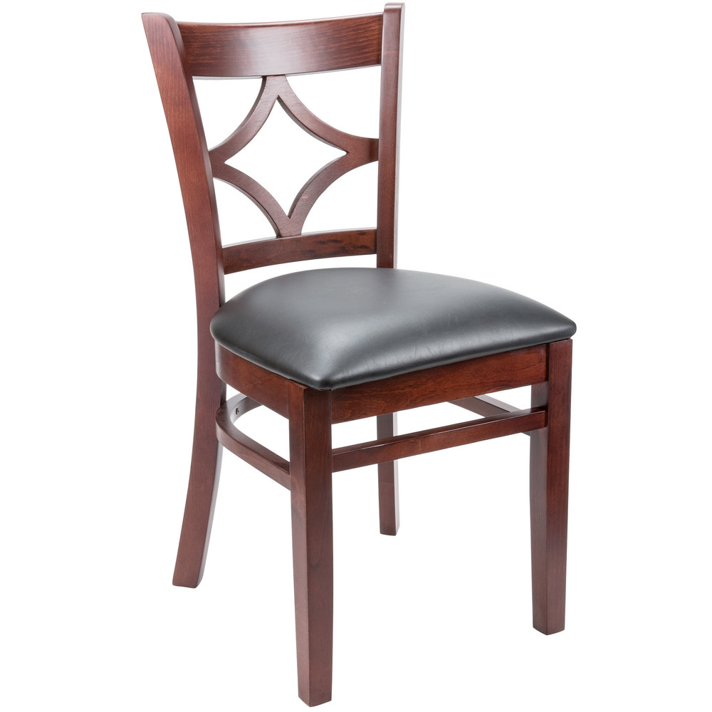 Lancaster table seating mahogany diamond back chair with for Sillas para desayunador