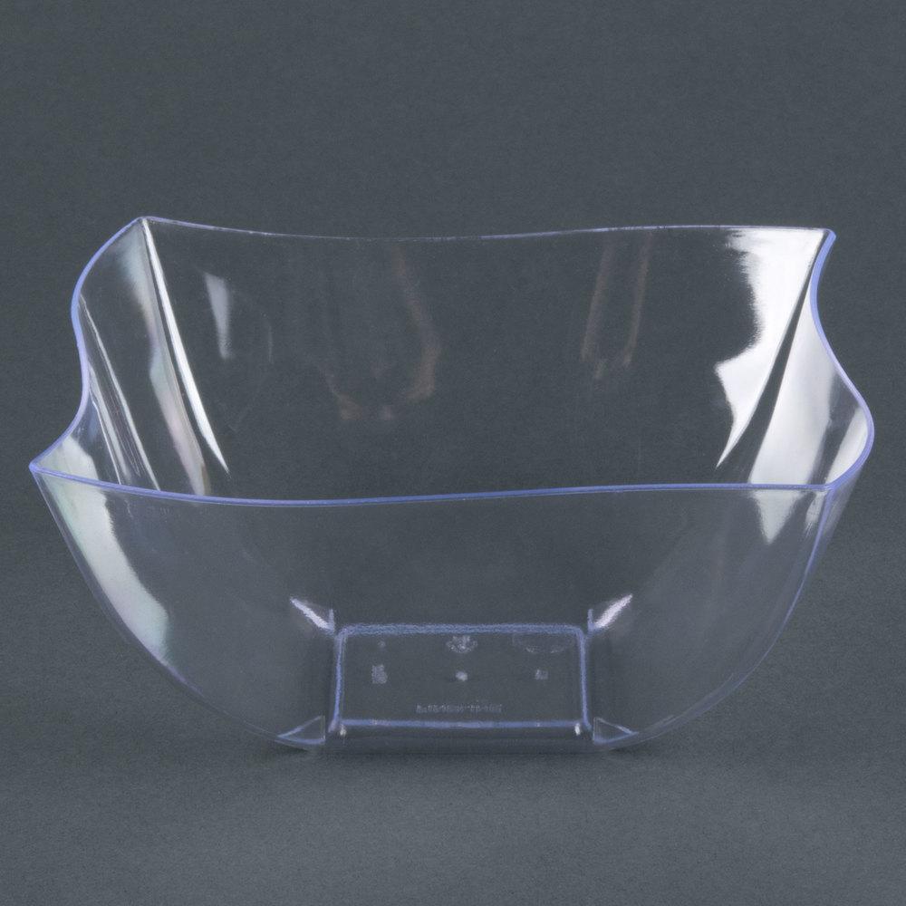fineline wavetrends tiny temptations 116 cl 16 oz clear plastic bowl 80 case. Black Bedroom Furniture Sets. Home Design Ideas