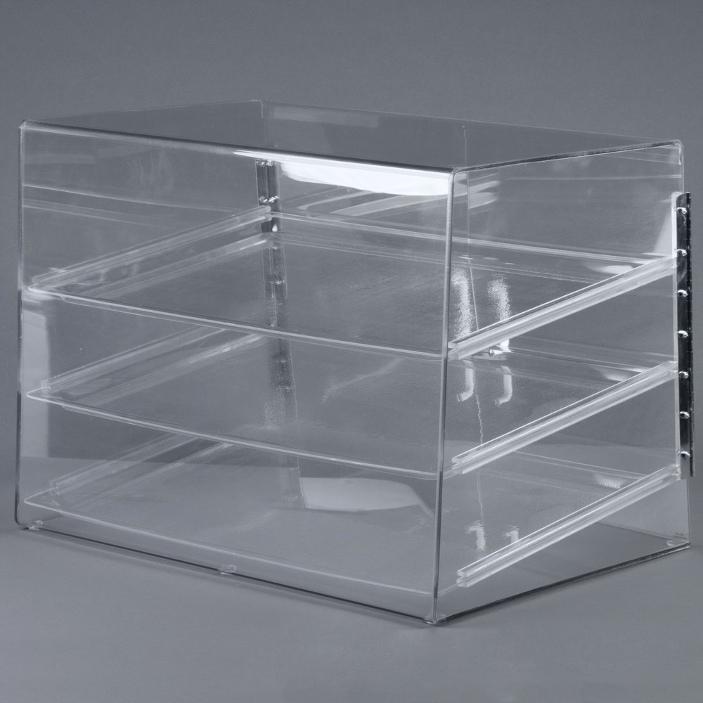 "Cal-Mil 1202 Classic Three Tier Pastry Display Case with Rear Door - 27"" x 20"" x 20"""