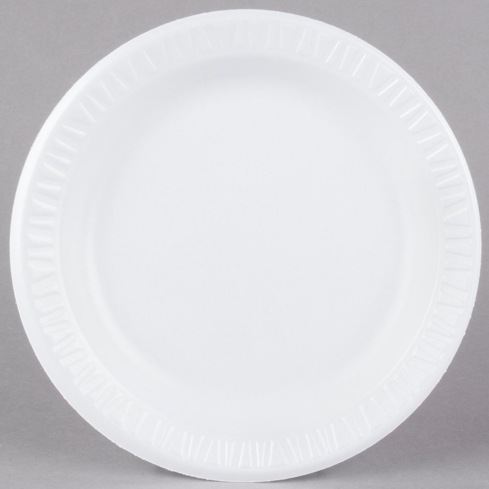 Dart 9pwc Concorde 9 Quot White Non Laminated Round Foam Plate