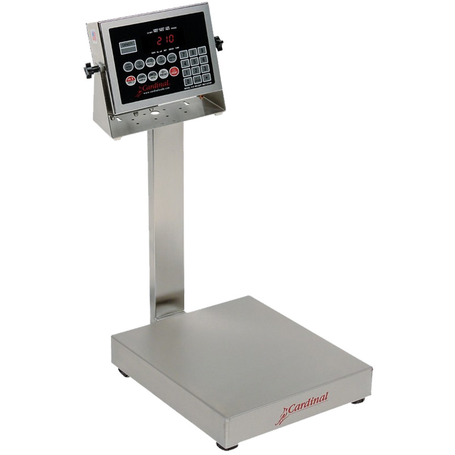 Cardinal Detecto EB-15-210 15 lb. Electronic Bench Scale with 210 Indicator, Legal for Trade