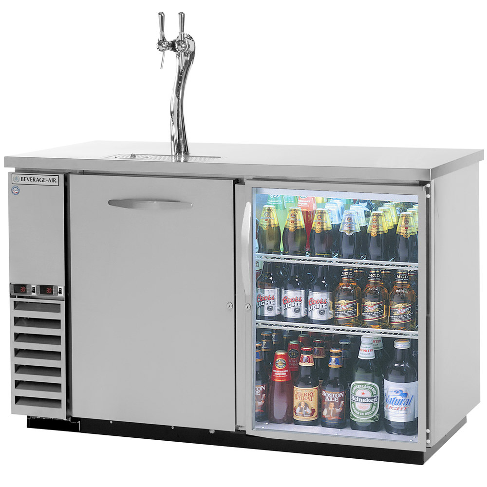 Beverage-Air DZ58G-1-S-1-LED Double Tap Dual Zone Kegerator Beer ...
