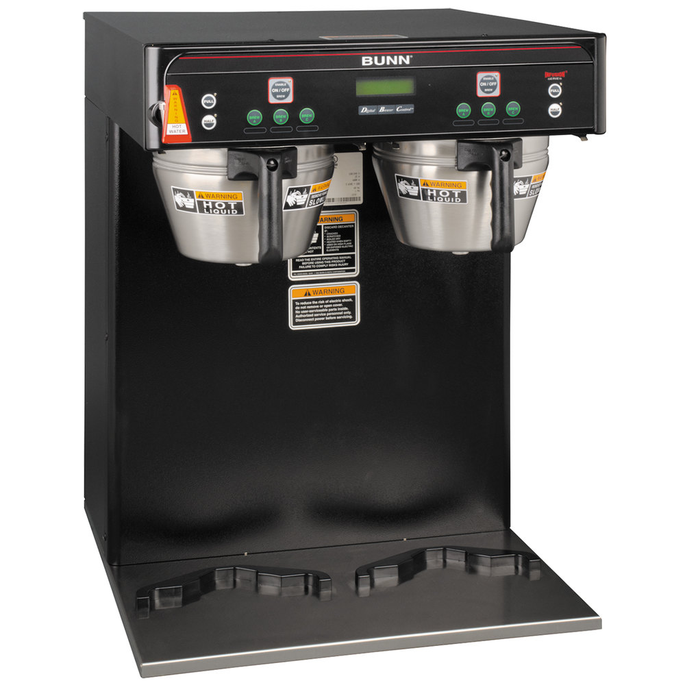 Bunn 37600.0004 BrewWISE ICB-TWIN Dual Infusion Series Black Coffee Brewer - 120/240V