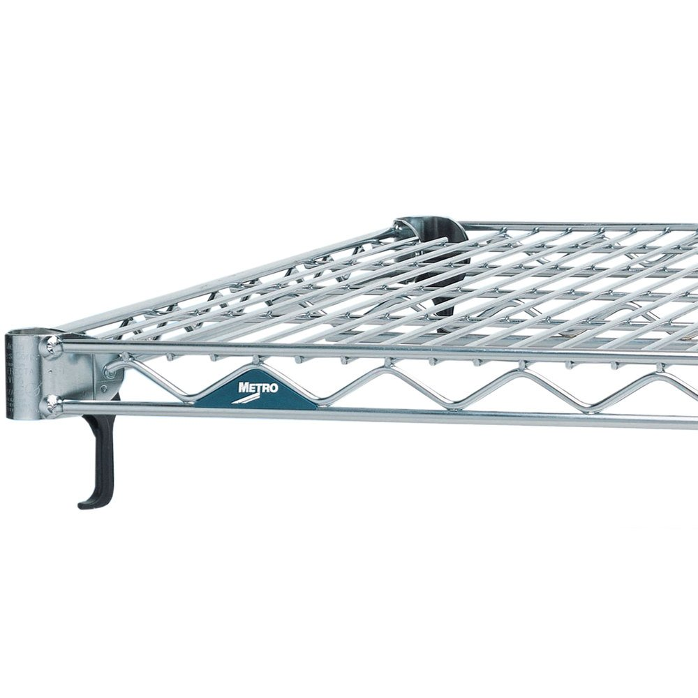 "Metro A1436NS Super Adjustable 2 Stainless Steel Wire Shelf - 14"" x 36"""
