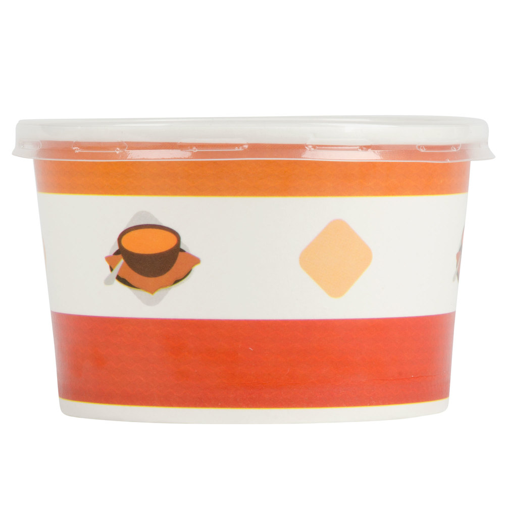 Choice 8 Oz Double Poly Coated Paper Soup Hot Food Cup