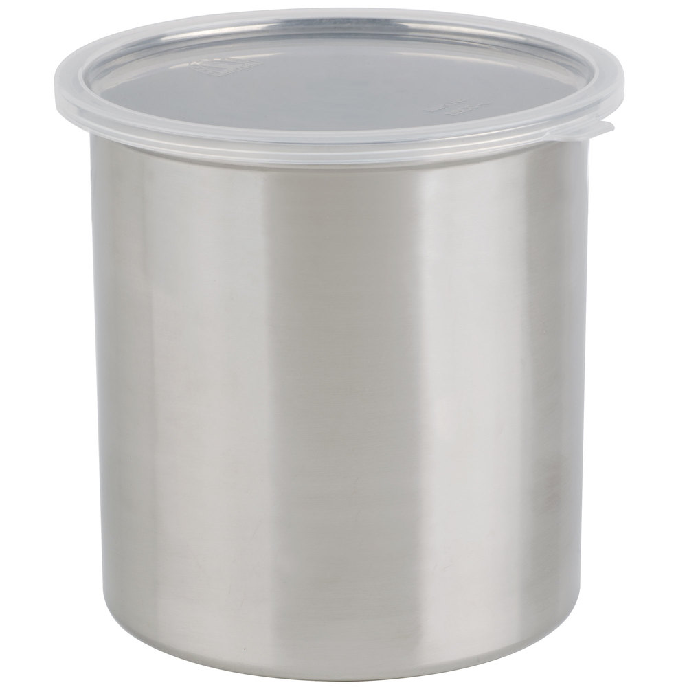Stainless steel storage containers for kitchen - 2 7 Qt Stainless Steel Food Storage Container With Snap On Plastic Lid Main Picture