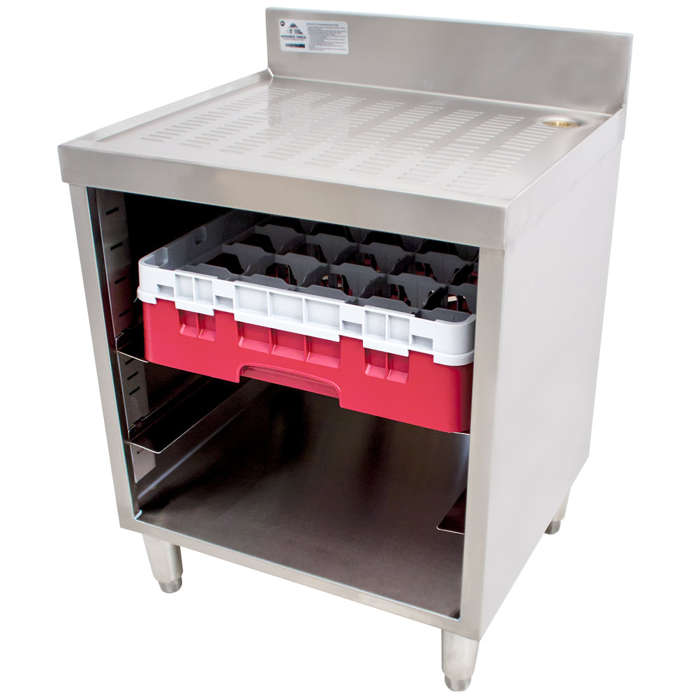 Storage unit for kitchen - Advance Tabco Crcr 24 Ct Corrugated Top Glass Rack Storage Unit