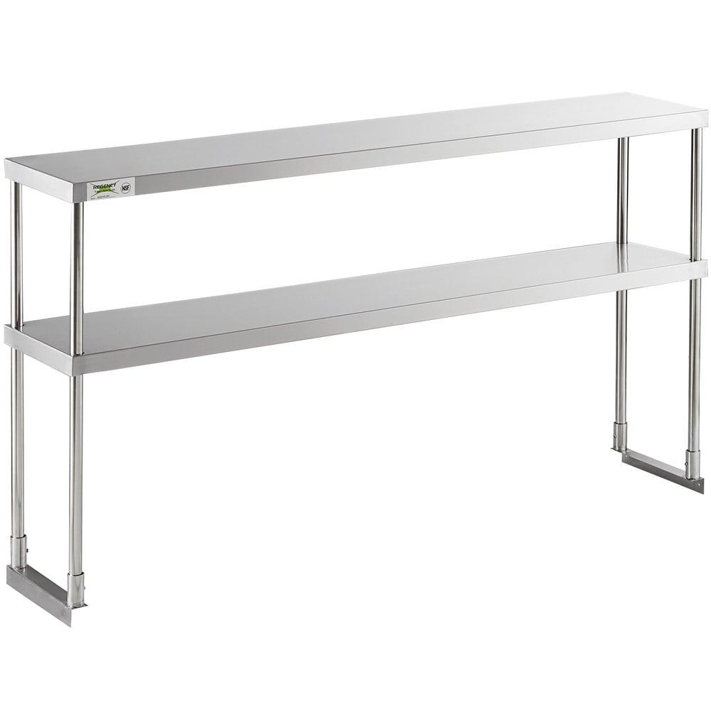 Regency Stainless Steel Double Deck Overshelf - 12 inch x 60 inch x 32 inch