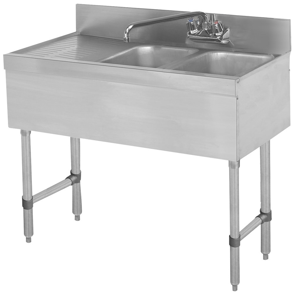 Advance Tabco Slb 32r Lite Two Compartment Stainless Steel