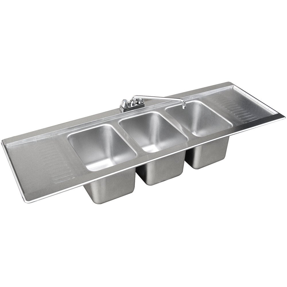 Advance Tabco Dbs 53c Three Compartment Stainless Steel