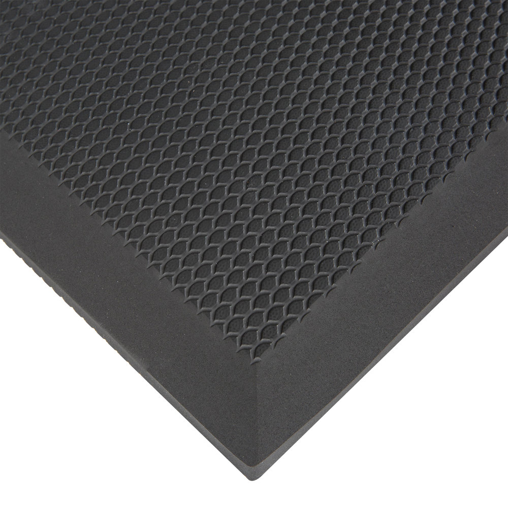Rubber floor mats standing - Cactus Mat 2200 23 Vip Black Cloud 2 X 3 Black Grease Proof Rubber Floor Mat